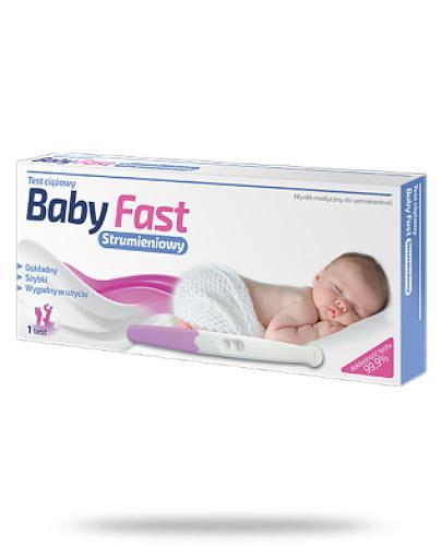 Rodzina Zdrowia Baby Fast Strumieniowy test ciążowy 1 sztuka