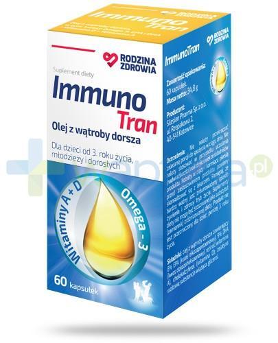 Rodzina Zdrowia ImmunoTran olej z wątroby dorsza 60 kapsułek
