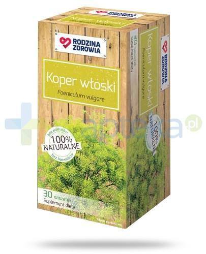 Rodzina Zdrowia Koper włoski 2000mg zioła do zaparzania 30 saszetek