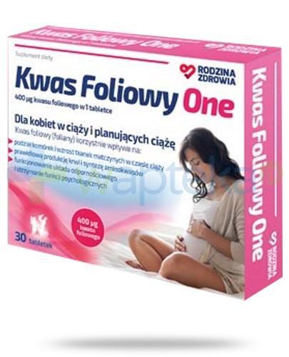 Rodzina Zdrowia Kwas Foliowy One 400µg 30 tabletek