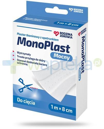 Rodzina Zdrowia MonoPlast mocny plaster z opatrunkiem tkaninowy do cięcia 1m x 8cm
