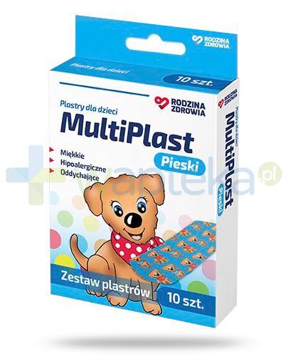 Rodzina Zdrowia MultiPlast Pieski plastry dla dzieci 10 sztuk