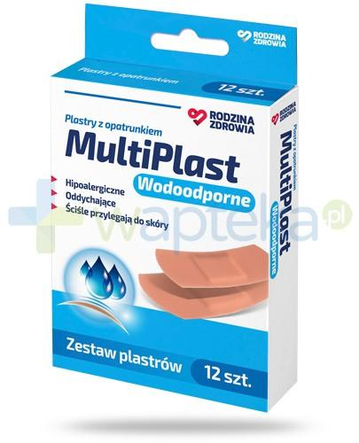 Rodzina Zdrowia MultiPlast wodoodporne plastry z opatrunkiem 12 sztuk