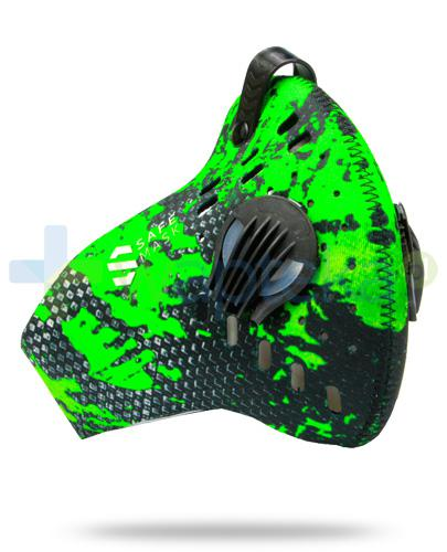SafeMask Sport Green neoprenowa maska antysmogowa rozmiar L + filtr Sport N99