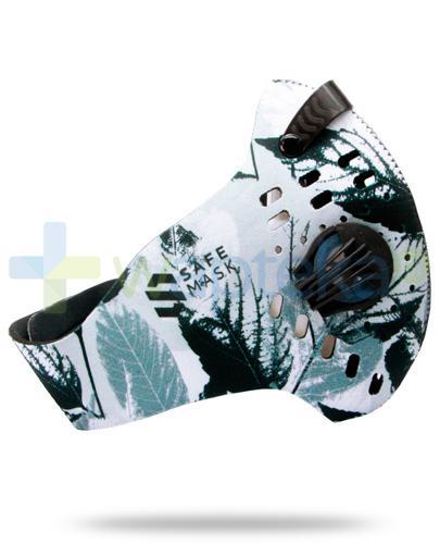 SafeMask Sport LVS Gray neoprenowa maska antysmogowa rozmiar L + filtr Sport N99
