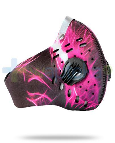 SafeMask Sport Pink neoprenowa maska antysmogowa rozmiar M + filtr Sport N99