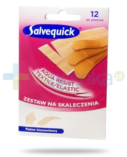 Salvequick Aqua Resist Textile zestaw na skaleczenia 12 sztuk