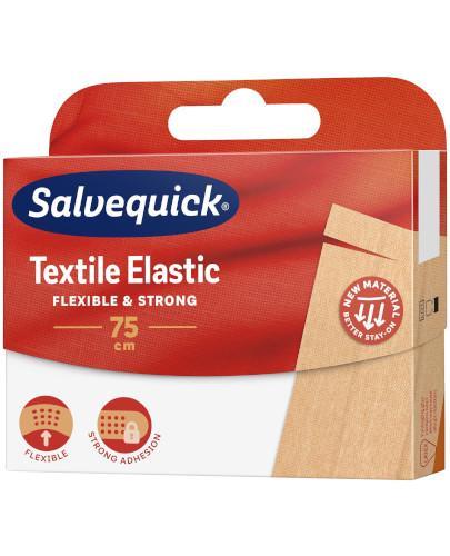 Salvequick Textile Elastic plaster 75cm x 6cm 1 sztuka