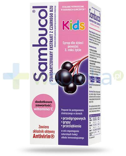 Sambucol Kids ekstrakt z owoców czarnego bzu 120 ml