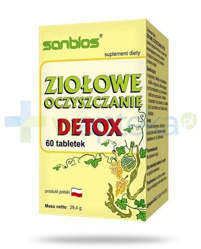 Sanbios Detox Ziołowe oczyszczanie 60 tabletek