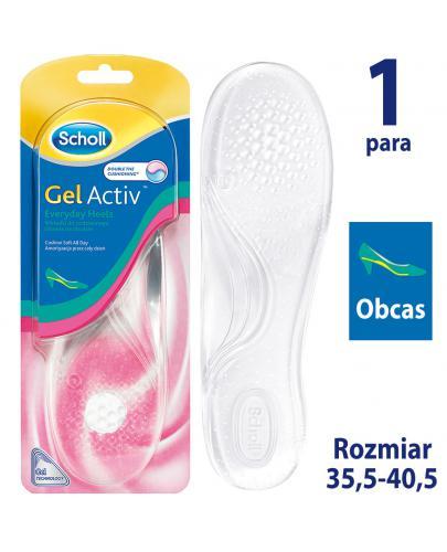 Scholl GelActiv Everyday Heels wkładki do obuwia na obciasie rozmiar 35-40,5 2 sztuki