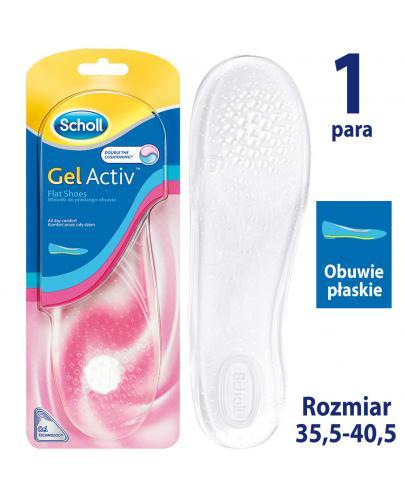 Scholl GelActiv Flat Shoes wkładki do obuwia płaskiego rozmiar 35-40,5 2 sztuki