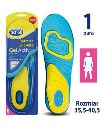 Scholl GelActiv wkładki do codziennego obuwia rozmiar 35-40,5 damskie 1 para