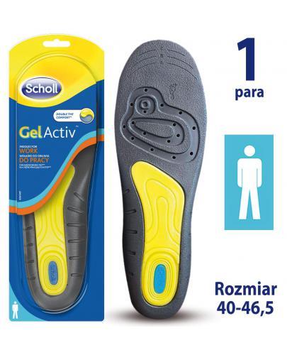 Scholl GelActiv Work wkładki do obuwia roboczego rozmiar 40-46,5 męskie 1 para