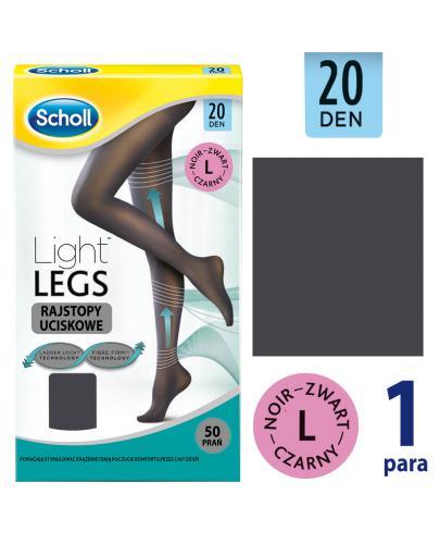 Scholl Light Legs 20 DEN rajstopy uciskowe rozmiar L cienkie kolor czarny 1 sztuka