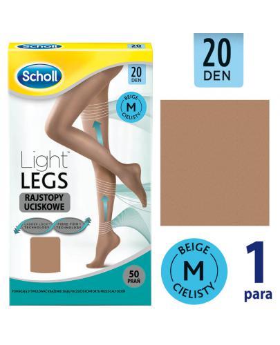 Scholl Light Legs 20 DEN rajstopy uciskowe rozmiar M cienkie kolor cielisty 1 sztuka