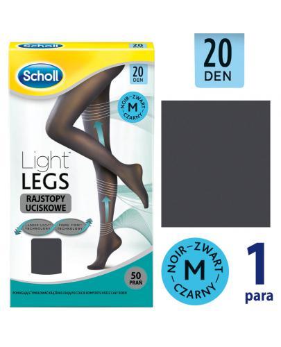 Scholl Light Legs 20 DEN rajstopy uciskowe rozmiar S/M cienkie kolor czarny 1 sztuka