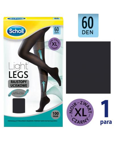 Scholl Light Legs 60 DEN rajstopy uciskowe rozmiar XL kolor czarny 1 sztuka