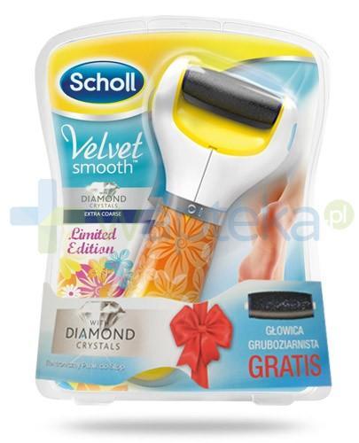 Scholl Velvet Smooth Limited Edition pilnik elektroniczny do stóp z kryształkami diamentów + druga głowica gruboziarnista GRATIS