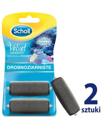 Scholl Velvet Smooth Wet&Dry wymienne głowice obrotowe drobnoziarniste z minerałami 2 sztuki
