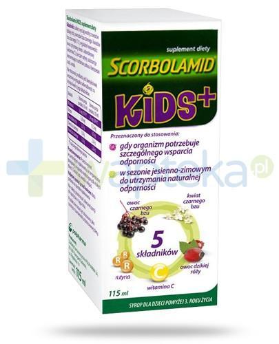 Scorbolamid Kids Plus syrop dla dzieci 3+ 115 ml