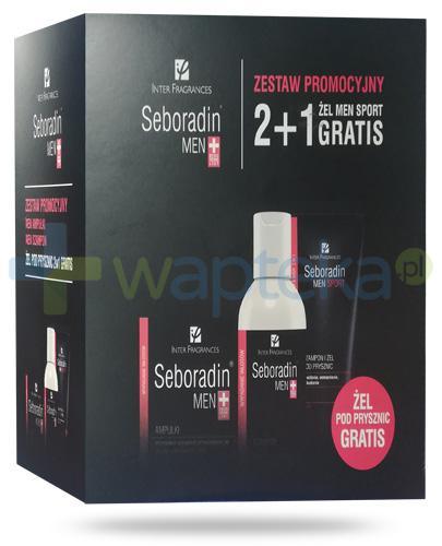 Seboradin Men szampon 200 ml + szampon-żel 2w1 200 ml + ampułki 14x 5,5 ml [ZESTAW]