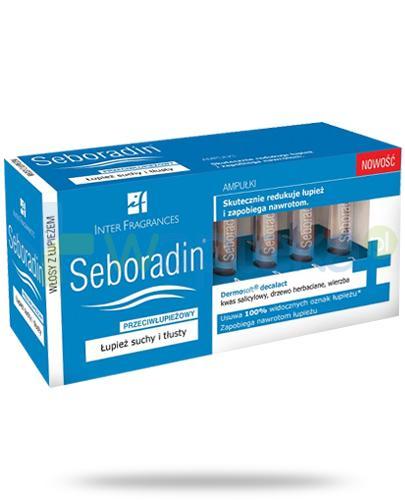 Seboradin Przeciwłupieżowy kuracja w ampułkach 14x 5,5 ml [Kupując x1 = drugi otrzymasz GRATIS]