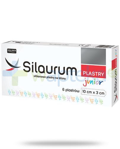 Silaurum Junior silikonowe plastry na blizny 10cm x 3cm 6 sztuk