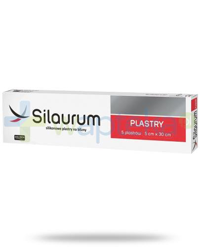 Silaurum silikonowe plastry na blizny 5cm x 30cm 5 sztuk