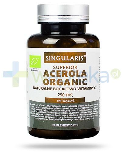 Singularis Superior Acerola Organic naturalne bogactwo witaminy C 250mg 120 kapsułek