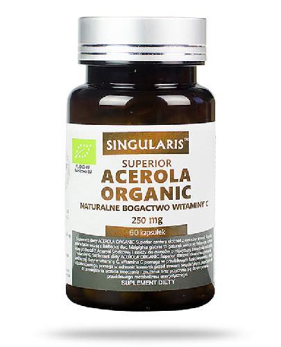 Singularis Superior Acerola Organic naturalne bogactwo witaminy C 250mg 60 kapsułek