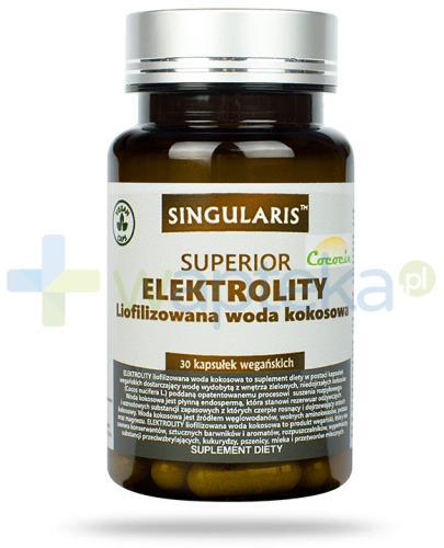 Singularis Superior Elektrolity liofilizowana woda kokosowa 30 kapsułek wegańskich