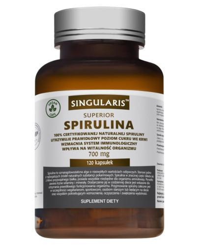 Singularis Superior Spirulina 700 mg 120 kapsułek