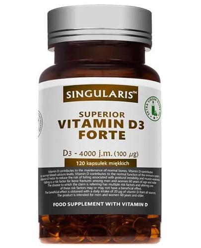 Singularis Superior witamina D3 Forte 4000 dla dorosłych 120 kapsułek