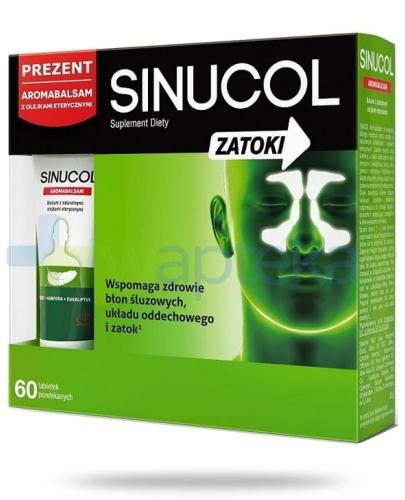 Sinucol Zatoki 60 tabletek + Aromabalsam 20 g