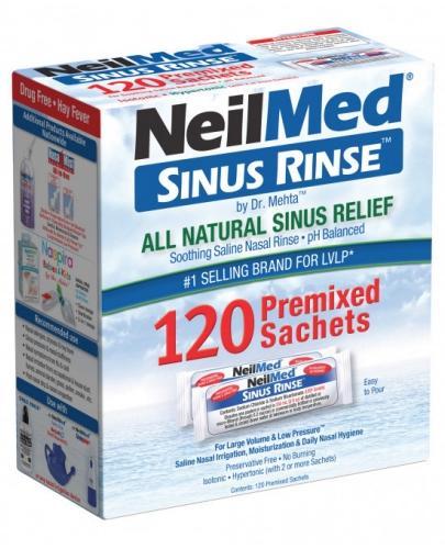Sinus Rinse zestaw uzupełniający do płukania nosa i zatok dla dorosłych, 120 saszetek
