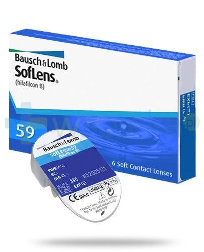 SofLens 59 soczewki kontaktowe o mocy -0,75 dioptrii 6 sztuk