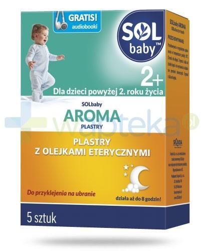SOLbaby Aroma 2+ plastry z olejkami eterycznymi do przyklejania na ubranie 5 sztuk [Data ważności 28-02-2019]