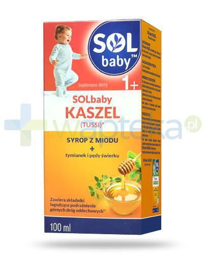 SOLbaby Kaszel Tussi syrop z naturalnego miodu dla dzieci 1+ 100 ml