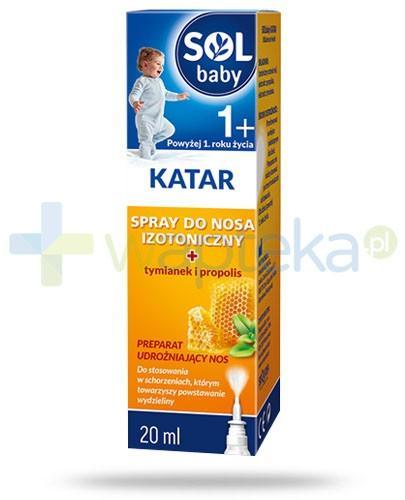 SOLbaby Katar 1+ spray do nosa izotoniczny z tymiankiem i propolis 20 ml