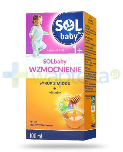 SOLbaby Wzmocnienie syrop z naturalnego miodu dla dzieci 1+ 100 ml