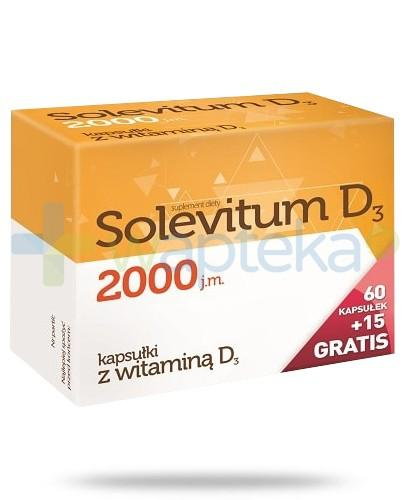 Solevitum D3 2000j.m. 60 kapsułek + 15 kapsułek gratis