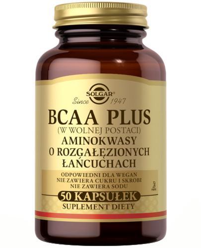 SOLGAR BCAA Plus Aminokwasy o rozgałęzionych łańcuchach 50 kapsułek  Z TYM PRODUKTEM DOSTAWA GRATIS!