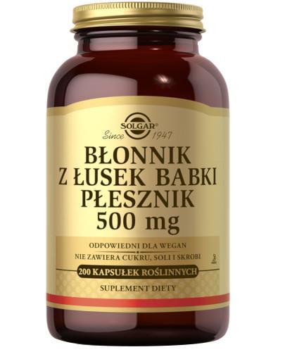 SOLGAR Błonnik z łusek Babki Płesznik 500 mg 200 kapsułek  Z TYM PRODUKTEM DOSTAWA GRATIS!