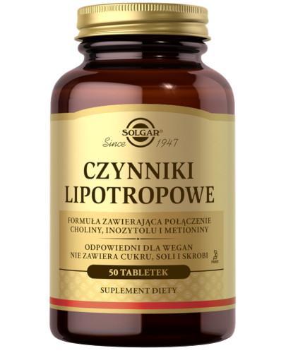 SOLGAR Czynniki Lipotropowe 50 tabletek Z TYM PRODUKTEM DOSTAWA GRATIS!