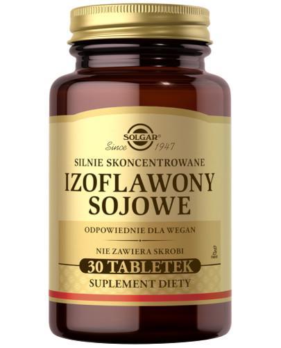 SOLGAR Izoflawony Sojowe silnie skoncentrowane 30 tabletek Z TYM PRODUKTEM DOSTAWA GRATIS!