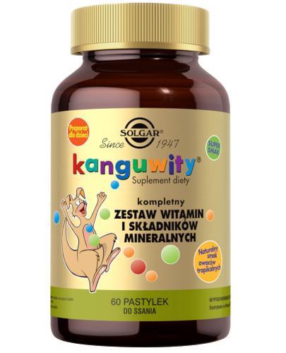 SOLGAR Kanguwity witaminy i minerały smak owoców tropikalnych 60 tabletek Z TYM PRODUKTEM DOSTAWA GRATIS!