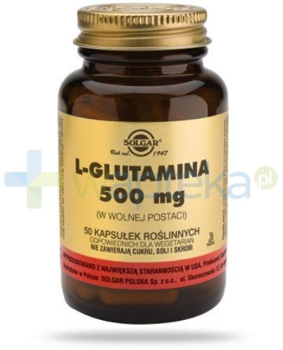 SOLGAR L-Glutamina 500 mg 50 kapsułek Z TYM PRODUKTEM DOSTAWA GRATIS!