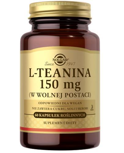 SOLGAR L-Teanina 150 mg 60 kapsułek Z TYM PRODUKTEM DOSTAWA GRATIS!