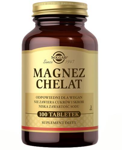 SOLGAR Magnez chelat aminokwasowy 100 tabletek Z TYM PRODUKTEM DOSTAWA GRATIS!
